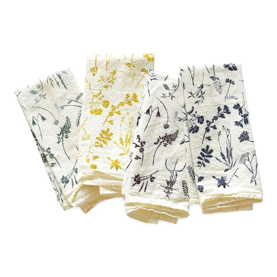 June & December - Mixed Wildflowers Napkins, Set of 4