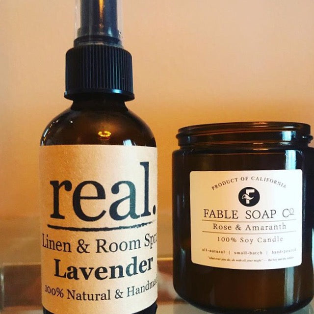 Real. Soaps - Lavender Linen & Room Spray