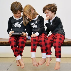 Tiny Trendsetter - Lola & Taylor - Country Moose Kids Pajama Set