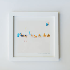 Framed Mini Print - Peach Beach #2 - Christine Mueller Photography
