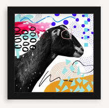 Load image into Gallery viewer, Black Goat - Animal Graffiti - Christine Mueller Photography