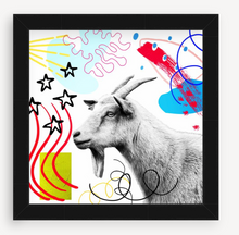 Load image into Gallery viewer, White Goat - Animal Graffiti - Christine Mueller Photography