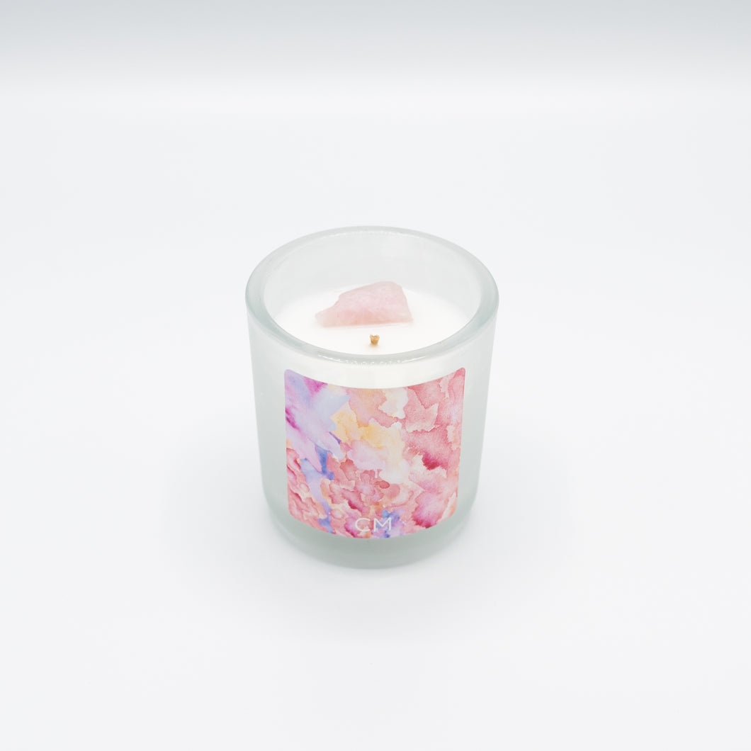 Rose Quartz Candle - Christine Mueller Photography