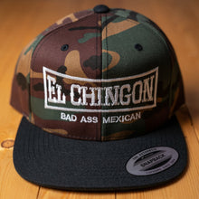 Load image into Gallery viewer, El Chingon Two-Tone Green Camo Snapback Hat
