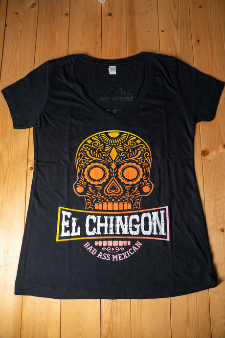 El Chingon Making Mexican Great Again V-Neck - Womens