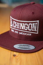 Load image into Gallery viewer, El Chingon Maroon Snapback Hat