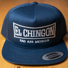 Load image into Gallery viewer, El Chingon Navy Snapback Hat