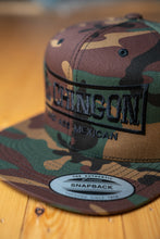 Load image into Gallery viewer, El Chingon Green Camo Snapback Hat