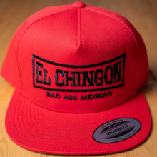 Load image into Gallery viewer, El Chingon Red Snapback Hat