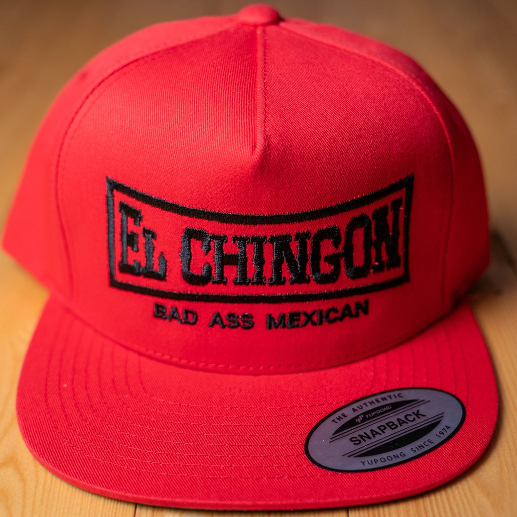 El Chingon Red Snapback Hat
