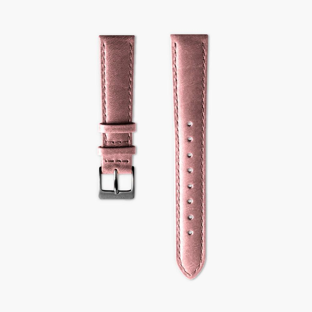 Pink Leather Watch Strap - Gun Metal (36mm Philosopher)