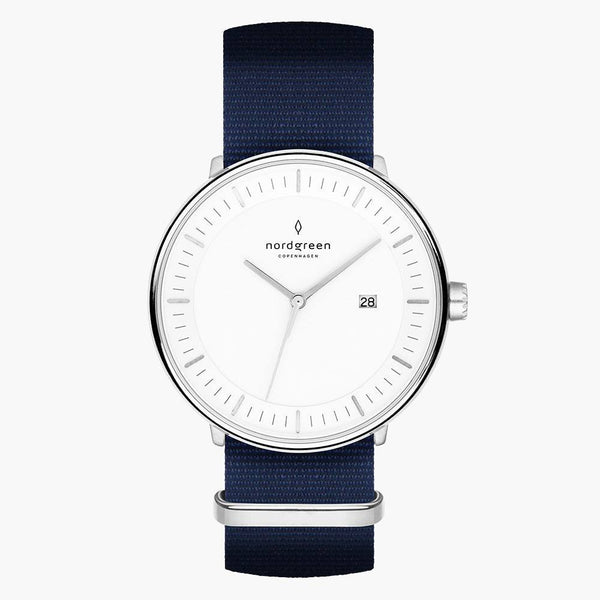 Philosopher - Silver | Navy Blue Nylon
