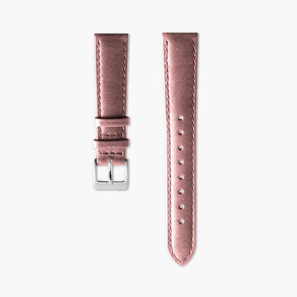 Pink Leather Watch Strap - Silver (32mm Infinity)