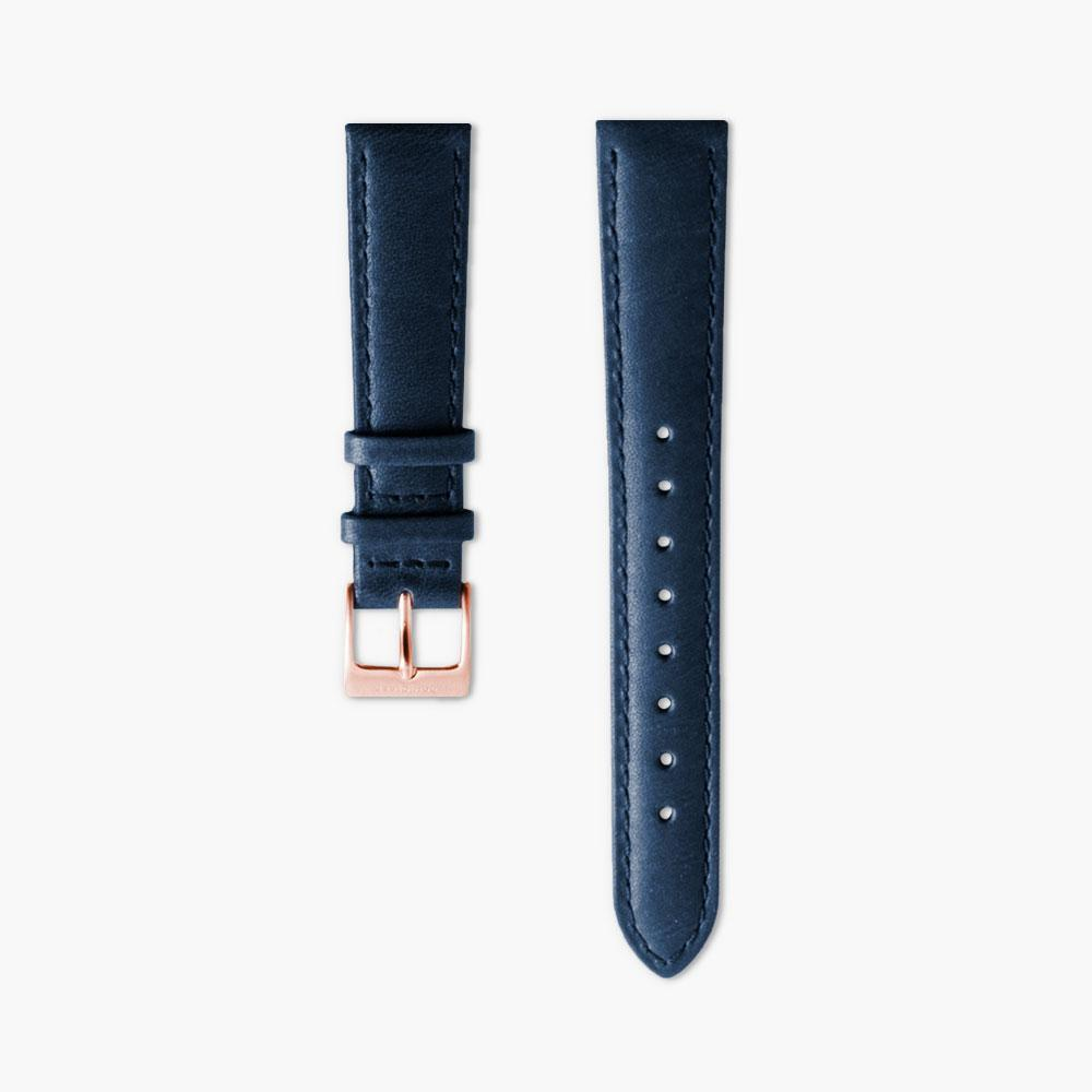 Native - Rose Gold | Navy Blue Leather