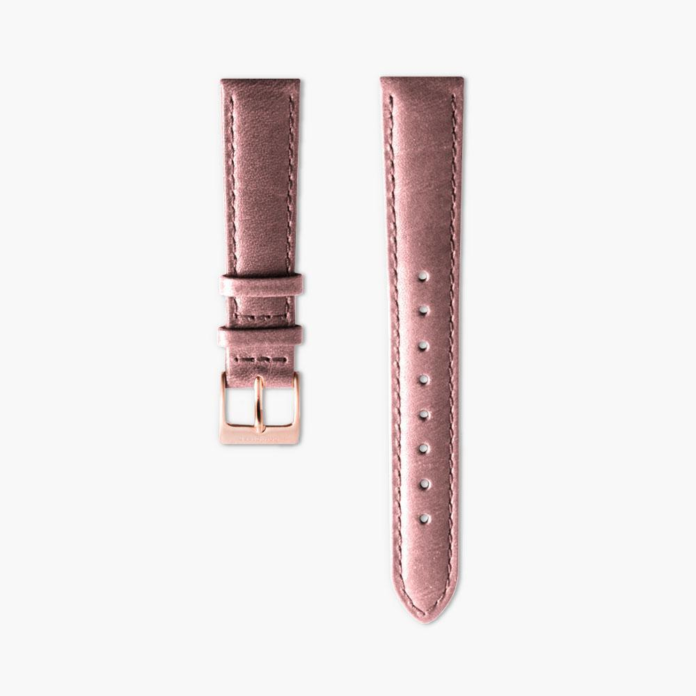Pink Leather Watch Strap - Rose Gold (36mm Native)