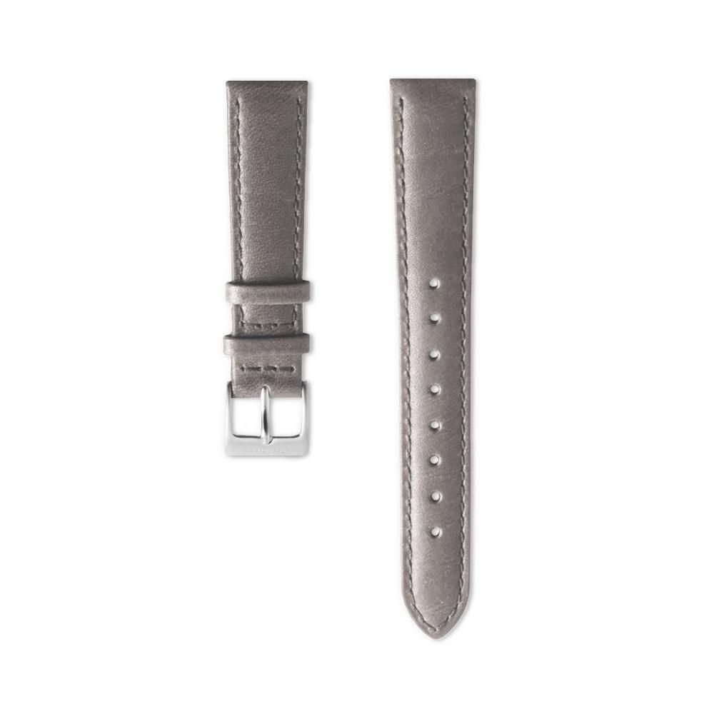 Grey Leather Watch Strap - Silver (40mm Philosopher & Infinity)