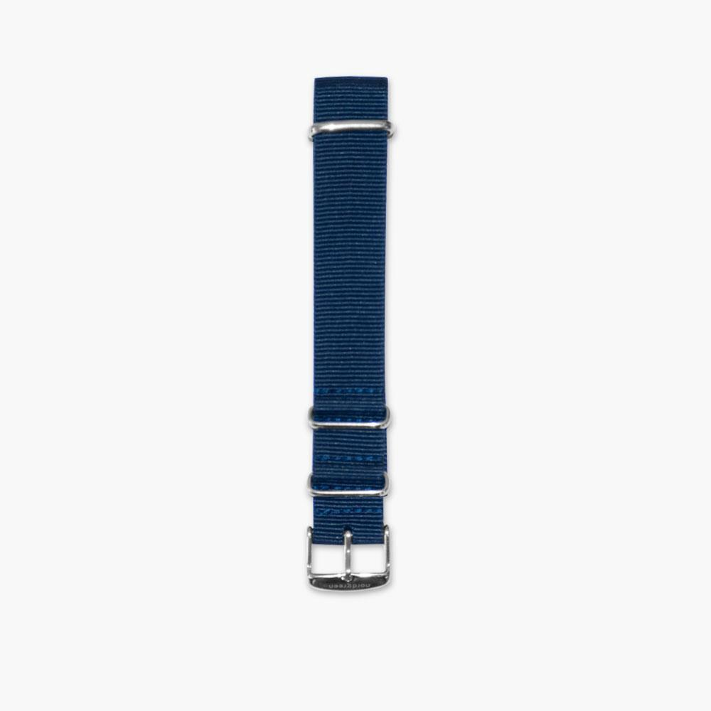 Navy Blue Nylon - Silver (40mm Philosopher & Infinity)