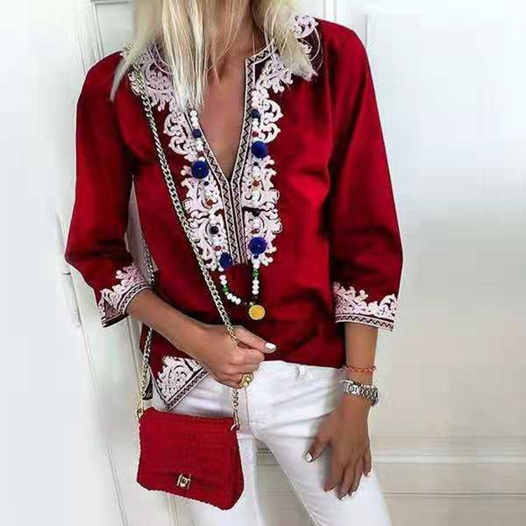 Plus Size Fashion Bohemian Lace Blouses
