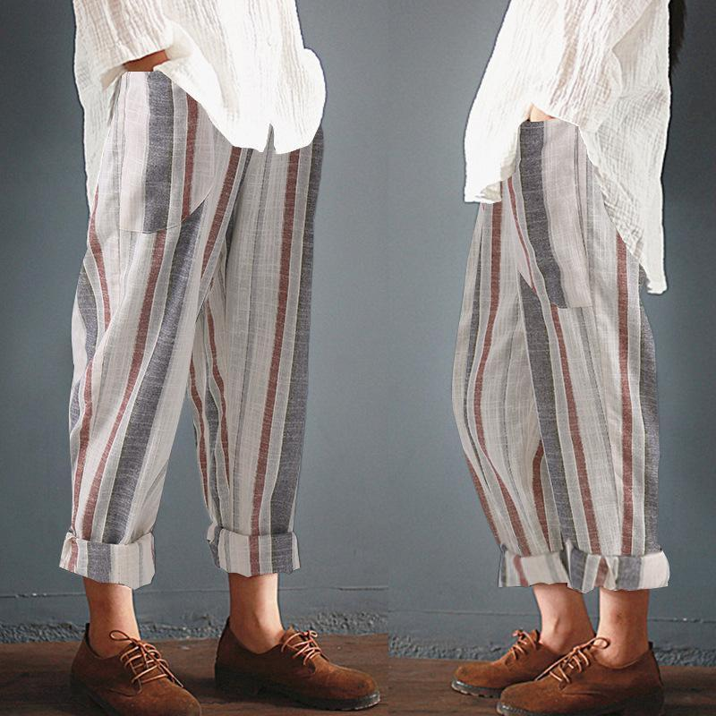 Womens Leisure Unisex Stripe Long Trousers