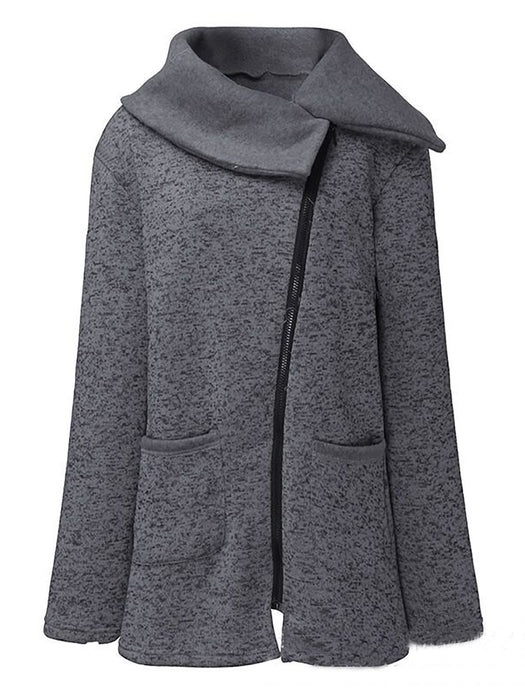 Warm Zip-up Hooded Sweatshirt Coat