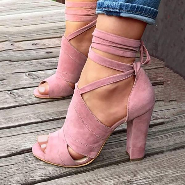 Sexy Lace-Up High Heel Sandals