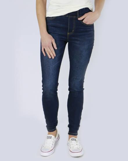 Classic Mid Rise Pull-On Jeggings in Dark Wash