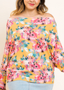 The Mustard Floral Dolman Top