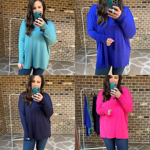 The TBB Favorite Vneck Tunic Top (5 Colorways)
