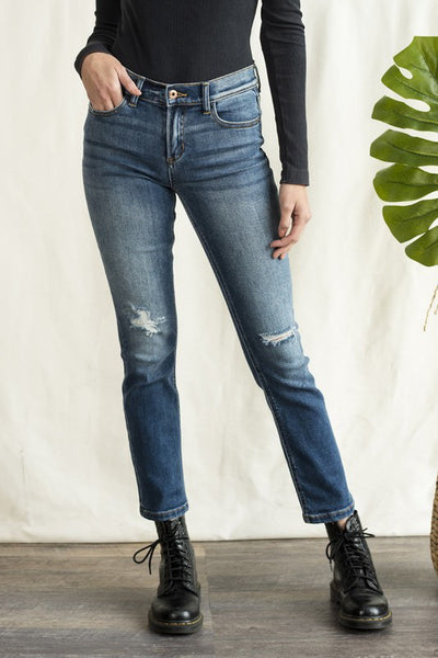 Straight Leg High Waisted Jeans