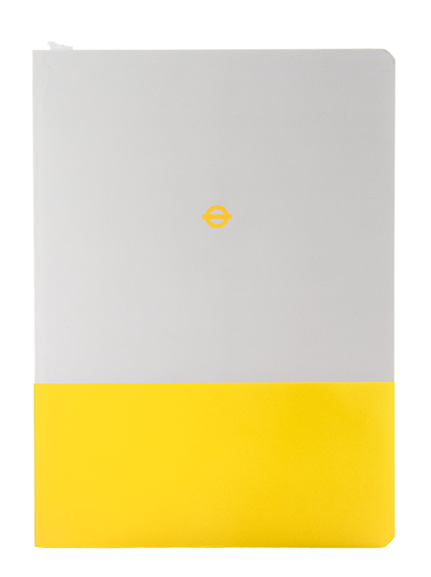 Yellow and white London Underground Circle Line A5 Notebook with roundel