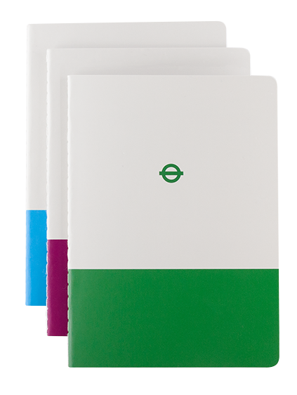 London Underground A6 Notebook Set of three (District, Metropolitan and Victoria)