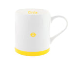 Yellow and white London Underground Circle Line Mug with roundel