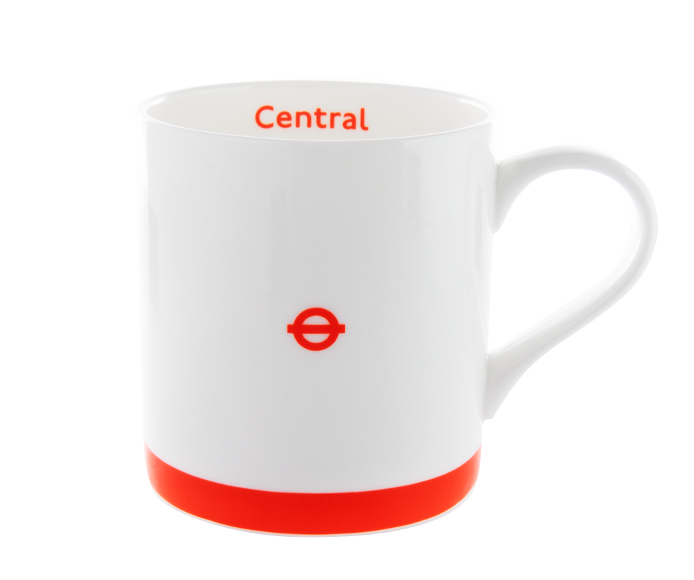 London Underground Mugs Set of Four (Central, Piccadilly, Hammersmith & City, Metropolitan)