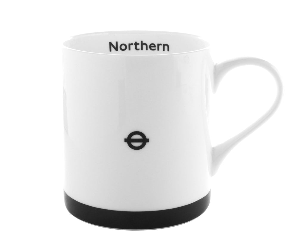 London Underground Mugs Set of Four (Jubillee, Northern, Bakerloo, District)