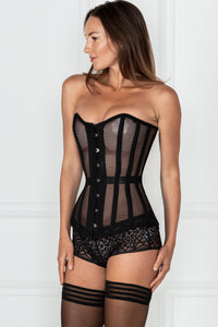 Pour Moi - Strapped 15 Denier Hold Up - Black