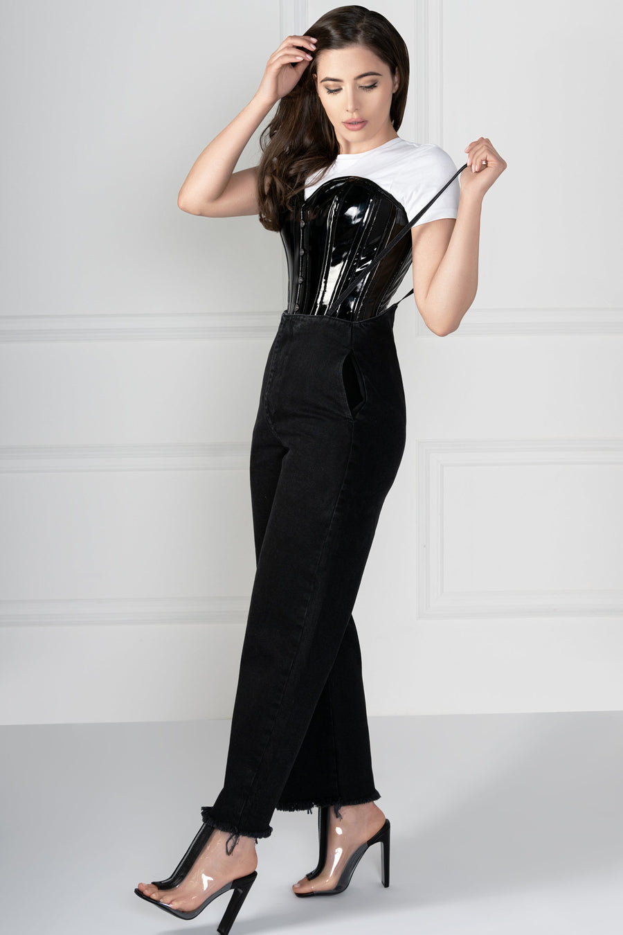 Longline PVC Overbust With Hip Gores