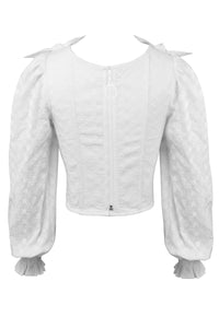 White Cotton Milkmaid Summer Corset Top