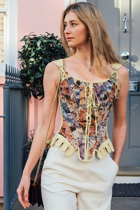 Historically Inspired Floral Tapestry Corset