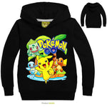 Pokemon Print Pikachu Hoodie for Kids