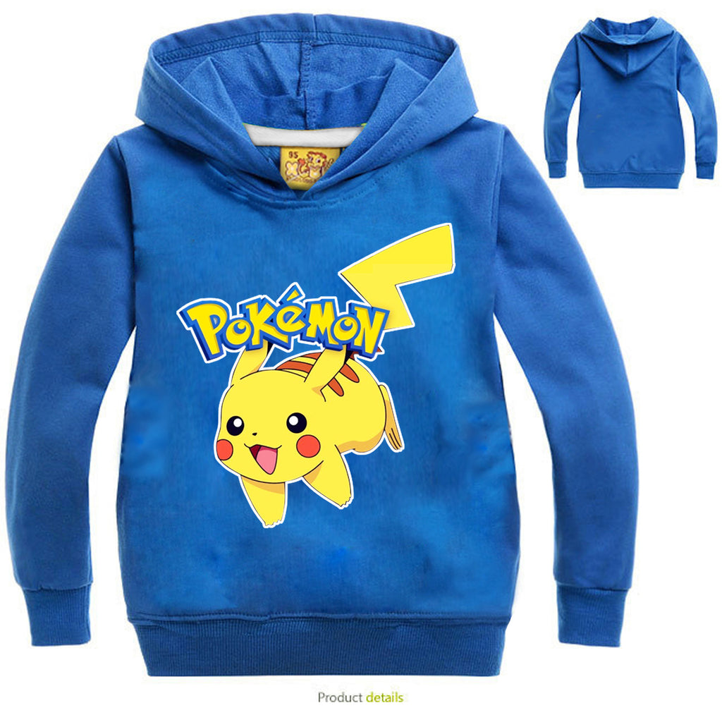 POKEMON Print Pikachu Multicolor Hoodie for Kids