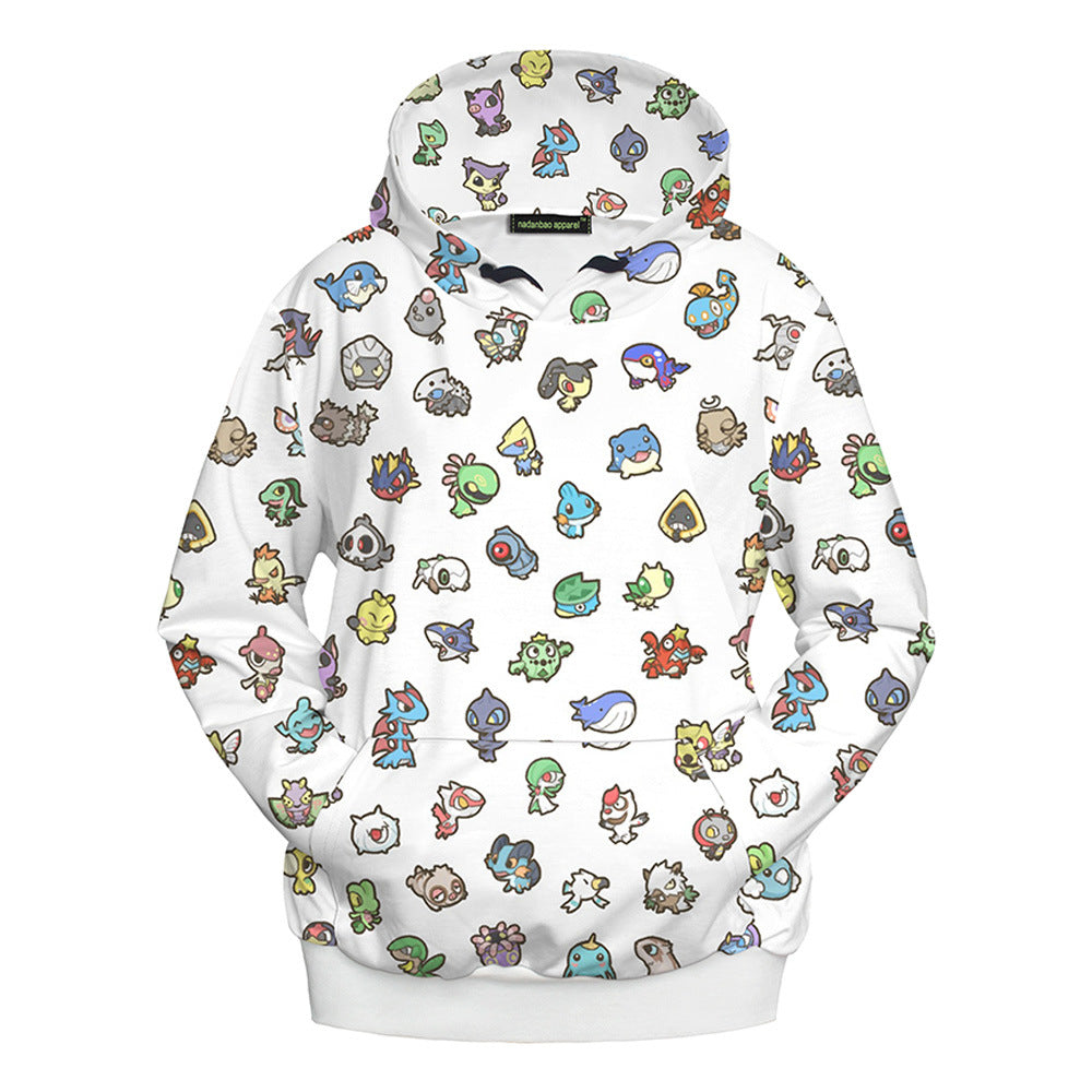 Pokemon Autumn Winter Hoodies For Adult