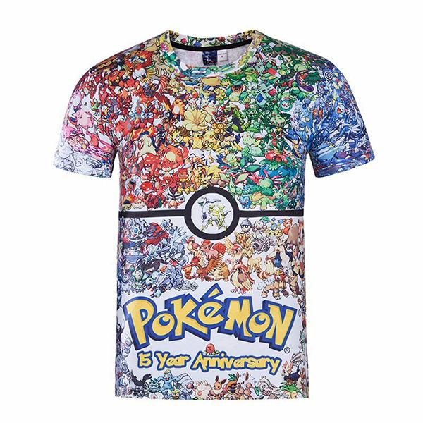 Pokemon Men's 3D Print T-Shi