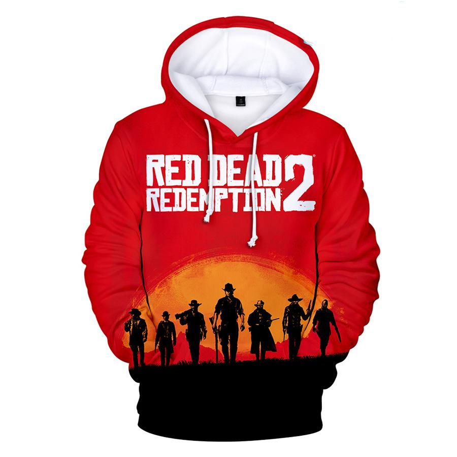 Red Dead Redemption Print Hoodie For Adult
