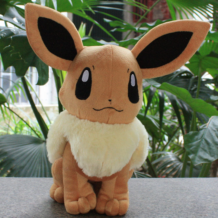 POKEMON Cute Sitting Eevee Plush Doll