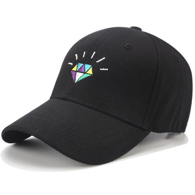 Diamond Dad Hat - Black - Dad Hats