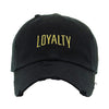 Loyalty Vintage Dad Hat - Black / Gold - Dad Hats