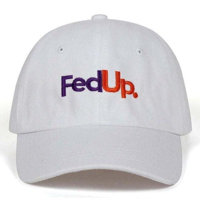 FedUP Dad Hat - White - Dad Hats