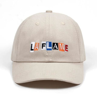 La Flame Dad Hat - Beige - Dad Hats