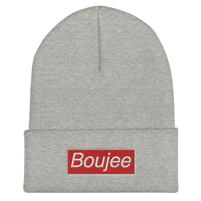 Boujee Cuffed Beanie - Heather Grey