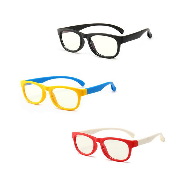 Computer Transparent Blocking Anti Reflective Eyeglasses for Kids
